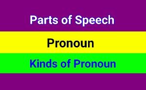 Parts of Speech - Pronoun and kinds of pronoun