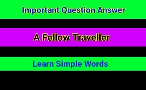 English Prose - A Fellow Traveller