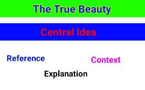 English Poetry - The True Beauty