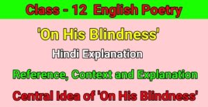 On His Blindness Hindi Explanation