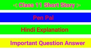 Class 11 Short Story – Pen Pal