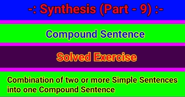 Synthesis of Sentences – Compound Sentence