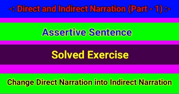 Direct And Indirect Narration Assertive Sentence Rani says to sheela, we. direct and indirect narration