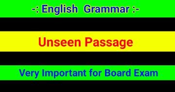 Unseen Passage