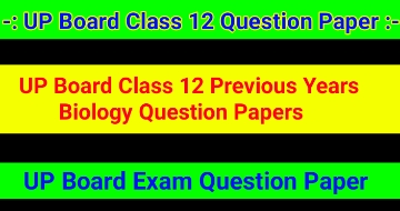 UP Board Class 12 Previous Years Biology Question Papers