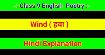 Wind Hindi Explanation