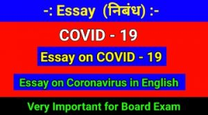 Essay on COVID - 19