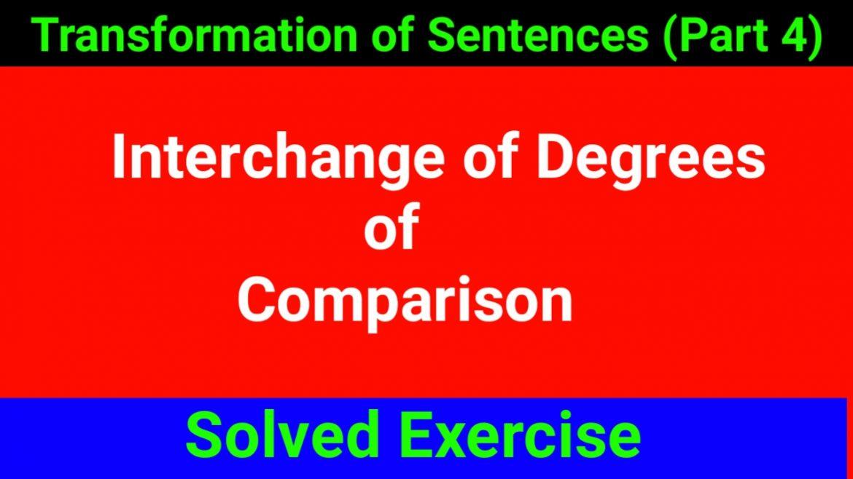 Interchange of Degree of Comparison