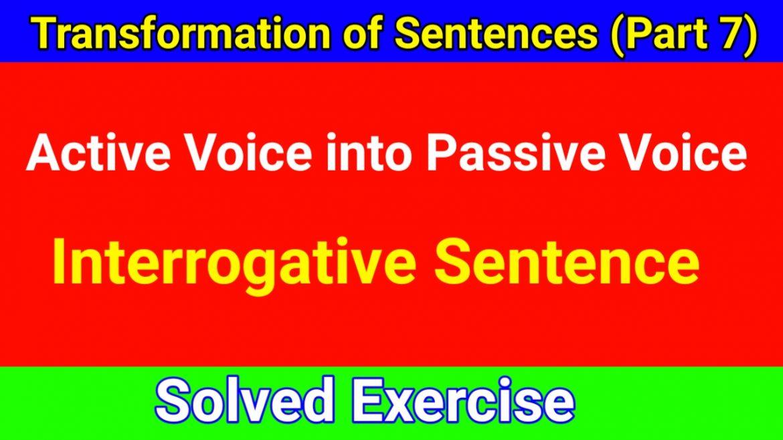Passive Voice of Interrogative Sentences
